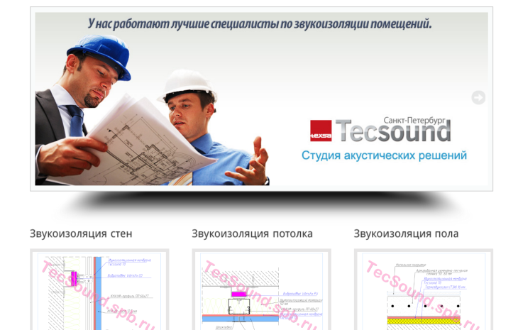 Сайт компании Тексаунд-СПБ www.tecsound.spb.ru